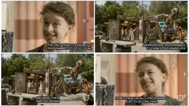 "TVO Kids. Annedriods. Season 1: Episode 3: ""Reduce, Reuse, Robocycle."" http://www.tvokids.com/shows/annedroids"